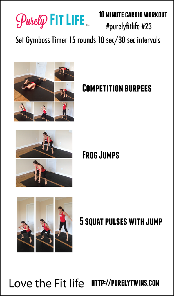 10 min cardio workout #purelyfitlife 23-01