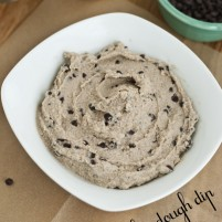 quick 5 minute healthy chocolate chip cookie dough dip #purelytalk