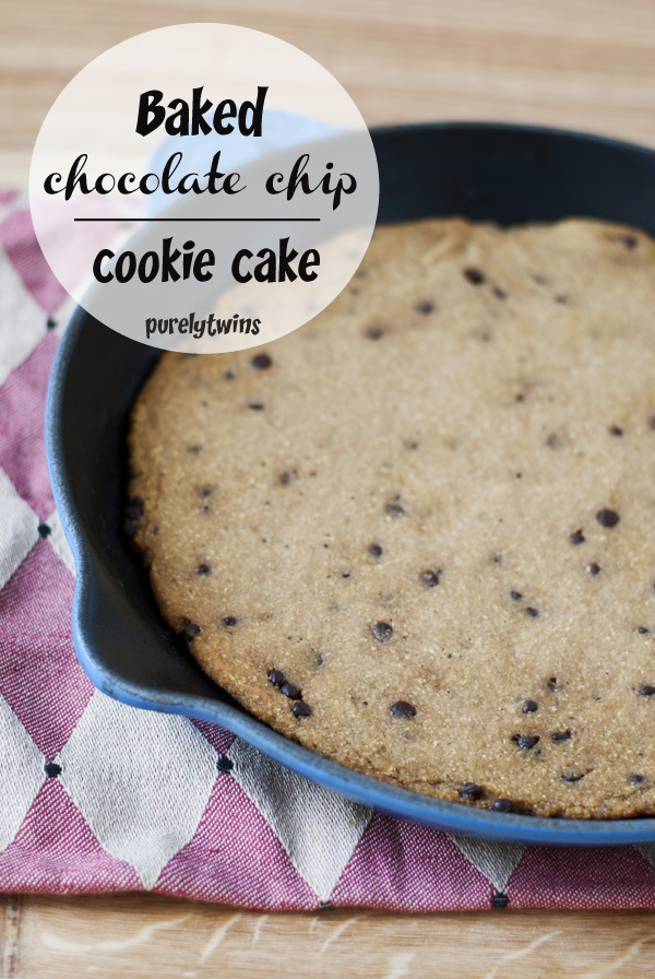 baked skillet chocolate chip cookie cake recipe