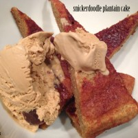 snickerdoodle cake with sea salt gelato