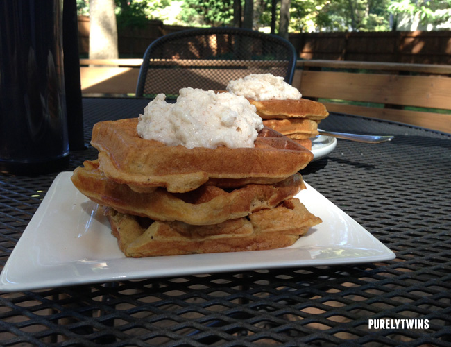 kefir plantain waffles for breakfast