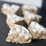 "marshmallow vanilla puffs aka ""healthier"" rice crispy treat"