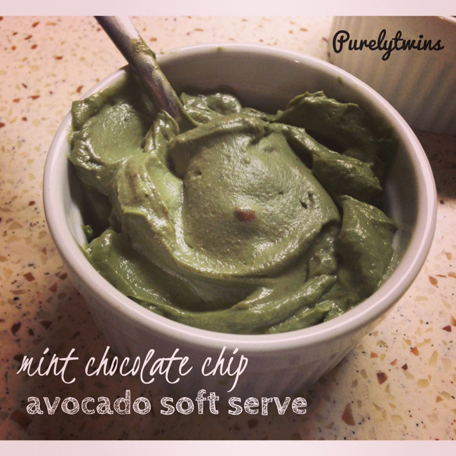mint chip avocado ice cream