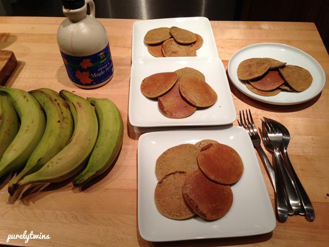 peanut butter plantain pancakes