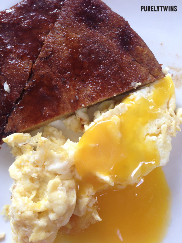 plantain bread runny egg yolk