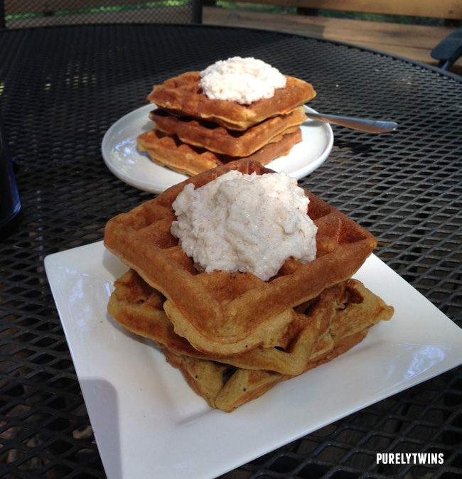 plantain waffles with kefir