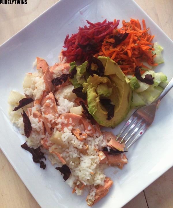 rice fish dinner