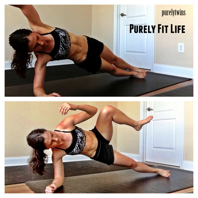 side plank knee to elbow