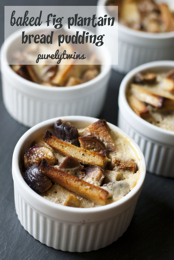 baked fig plantain bread pudding recipe