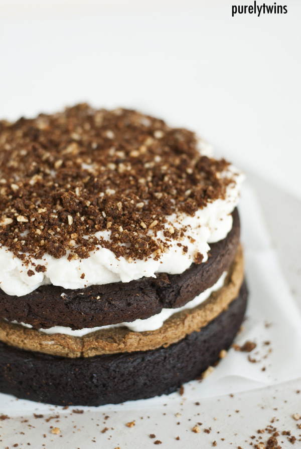 brownie layered cake