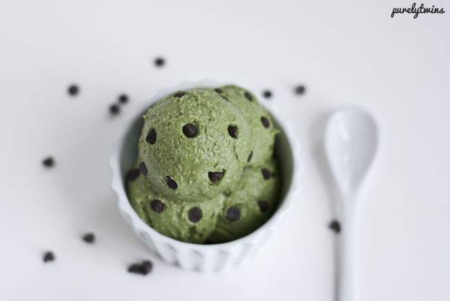 dairy free mint chocolate chip ice cream