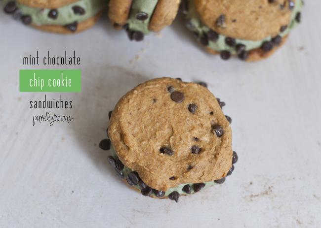 gluten-free grain-free mint cookie sandwich