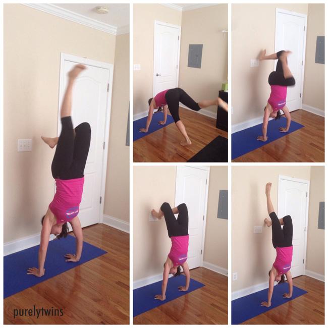 handstand bent legs