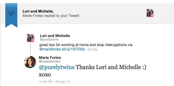Marie Forleo twitter