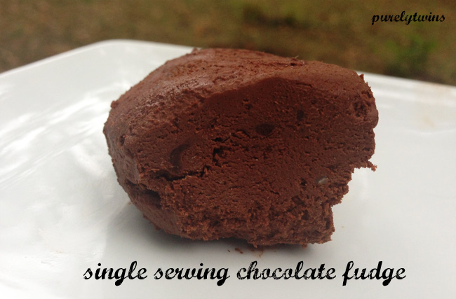 raw fudge single serving recipe