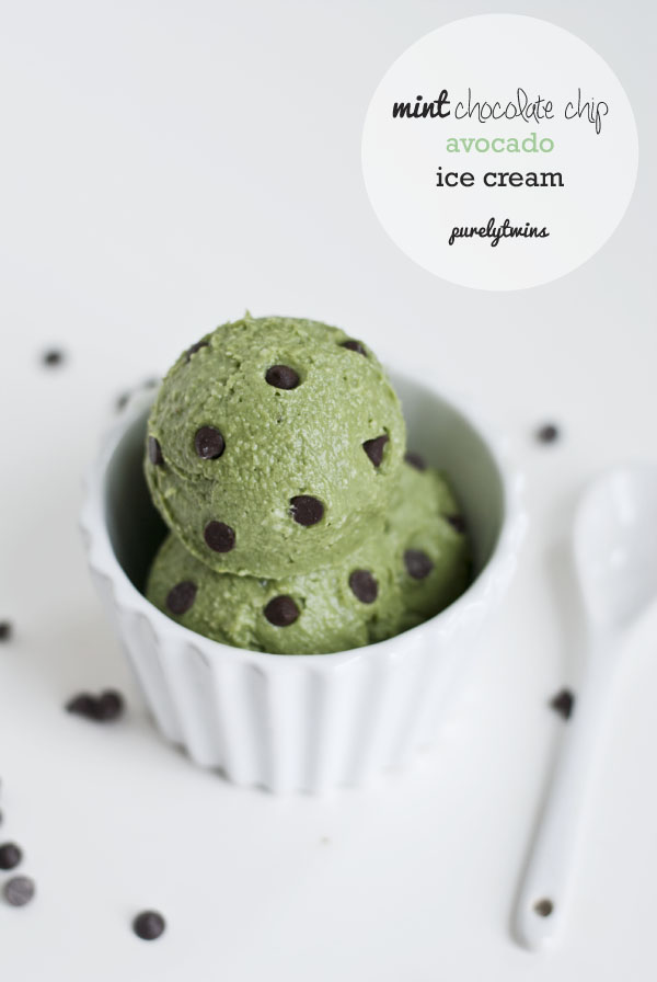 Homemade creamy mint chocolate chip avocado ice cream recipe
