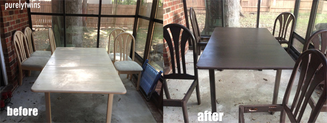 before after table