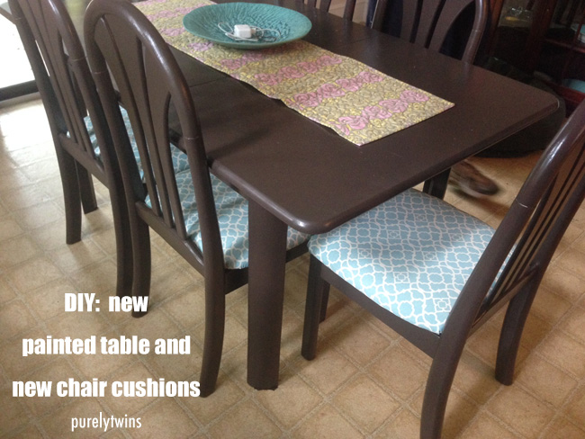 DIY house project: painting table and new seat cushions