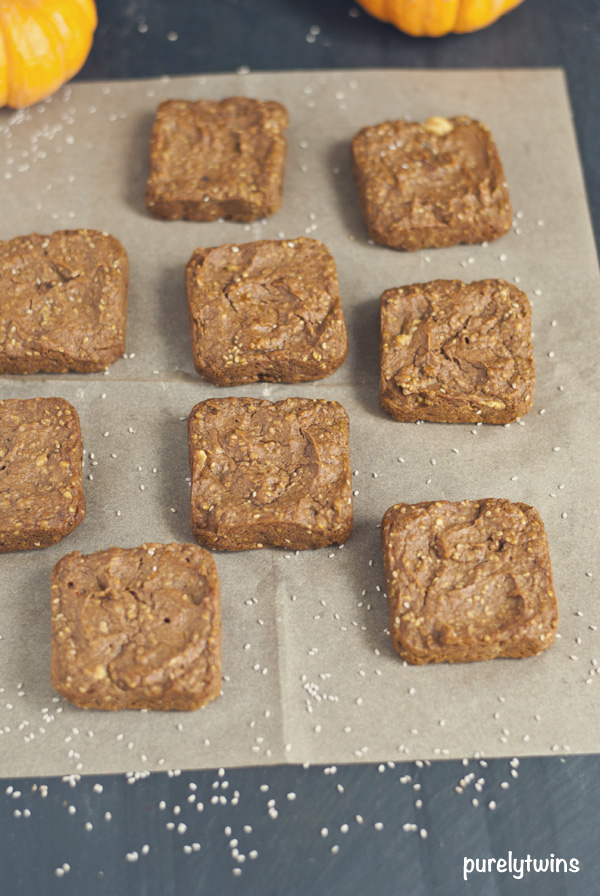 grain free flourless pumpkin blondies