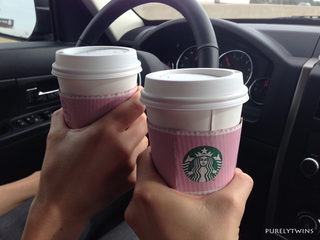 pink starbucks cups