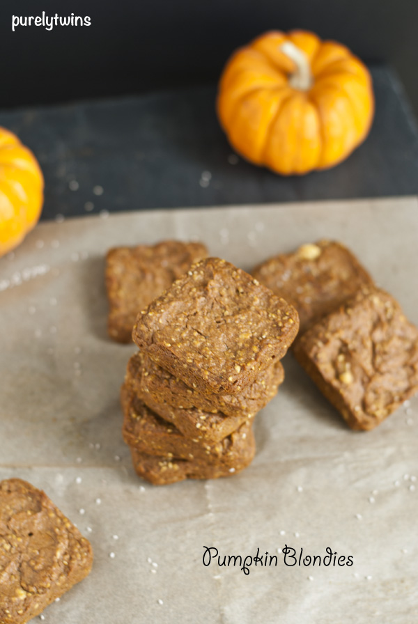 plantain grain-free pumpkin chia seed blondies