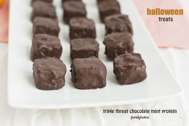 triple threat mint protein bites