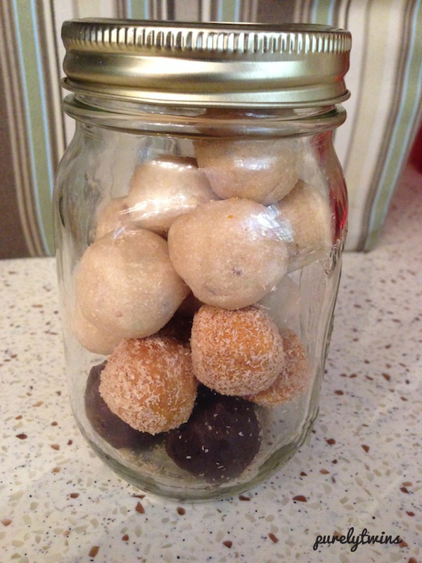 dough balls mason jar