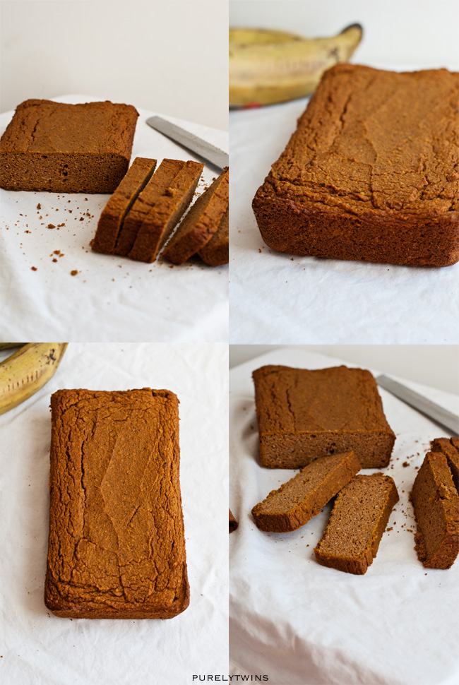healthy plantain pumpkin loaf