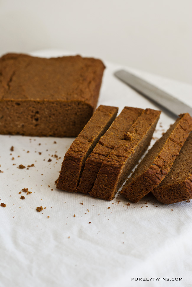 low sugar pumpkin bread