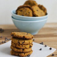 grain-free chocolate chip pumpkin coconut flour cookies