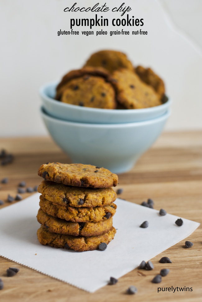 pumpkin chocolate chip coconut gluten free cookies