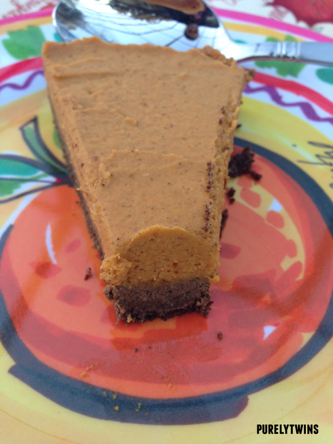 raw pumpkin chocolate pie