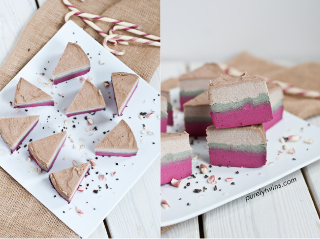 best raw christmas triple layered cheesecake