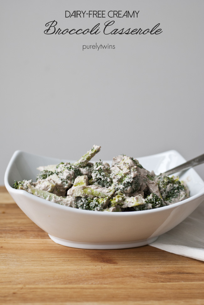 broccoli creamy vegan dish