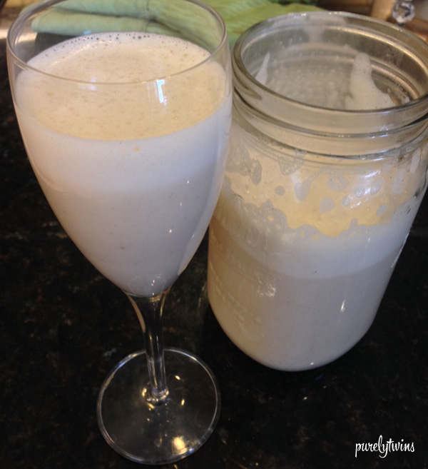 Homemade eggnog made from coconut milk. Dairy-free.