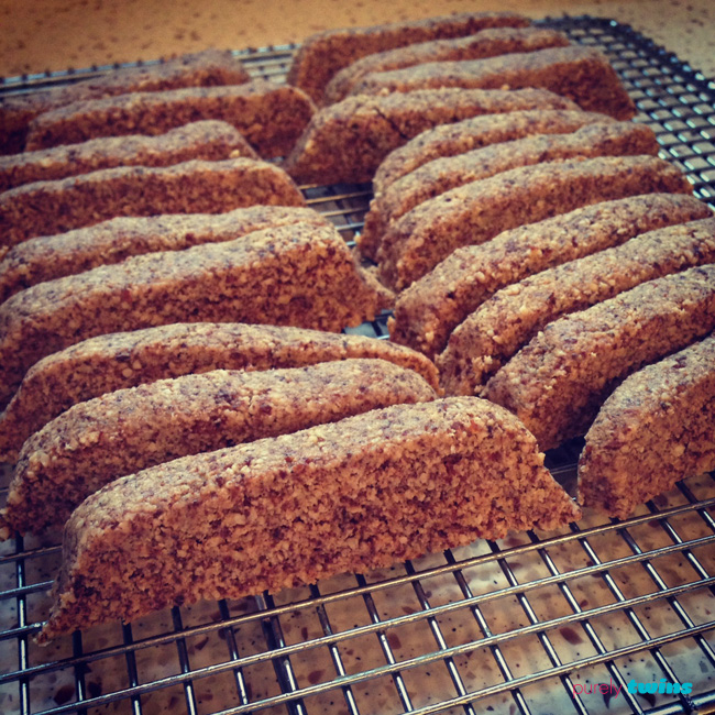 raw  cardamom almond biscotti from purely classic cookbook purelytwins