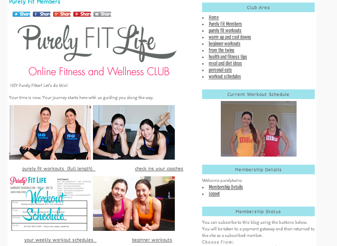 inside the purely fit life club