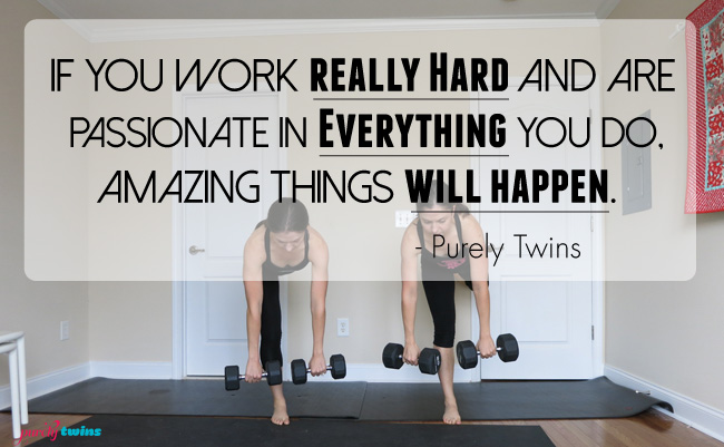 amazing things will happen if you work really hard  purely training 46