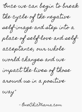break the cycle of negative self image