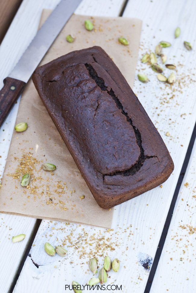 chocolate pistachio bread paleo loaf