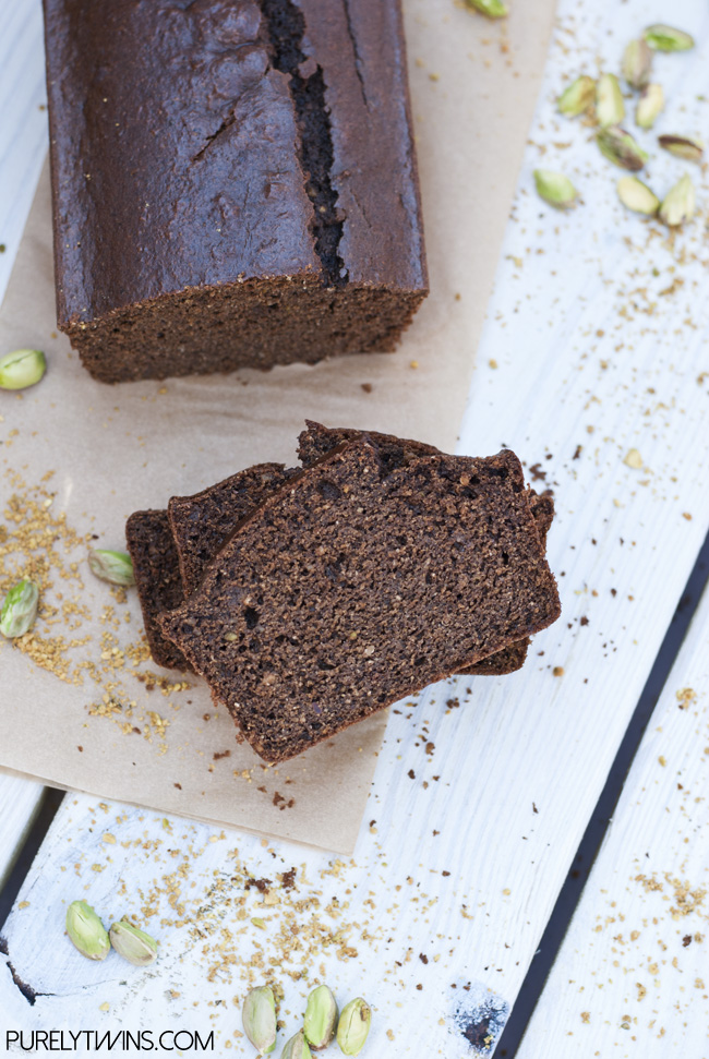 gluten free quick chocolate nut butter bread