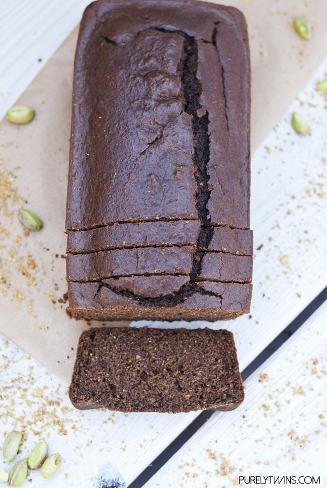 grain free chocolate pistachio bread purelytwins