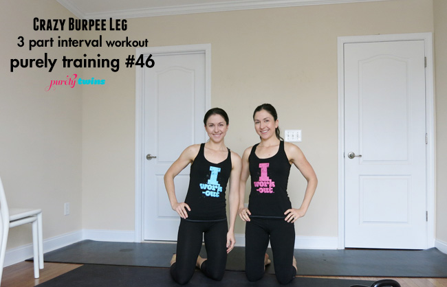 home workout leg burpee interval workout with the purely twins