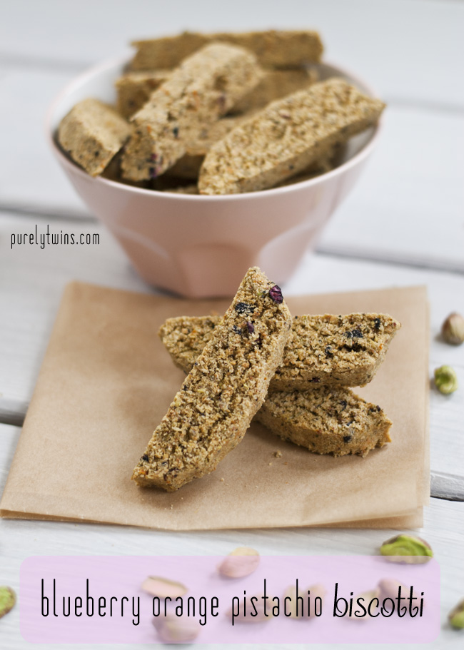 low sugar orange pistachio blueberrry biscotti