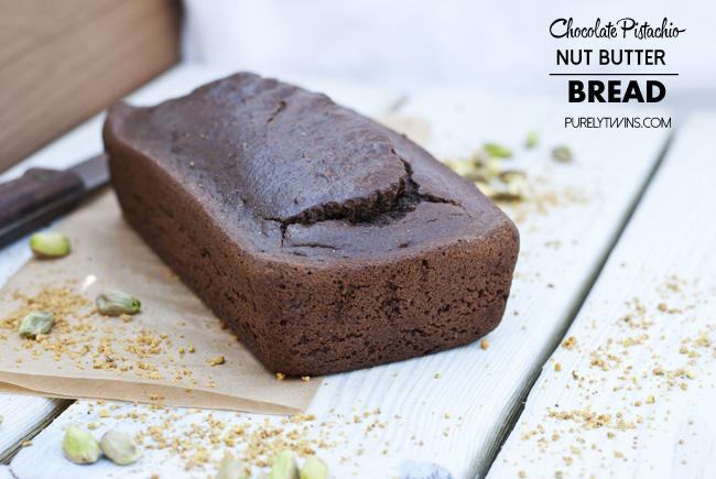 no flour gluten free grain free chocolate pistachio nut butter bread purelytwins