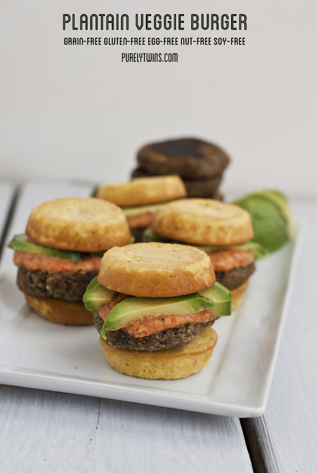 plantain buns with grain free egg free plantain veggie burger purelytwins