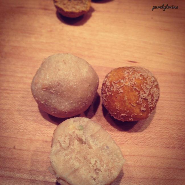 raw cake batter dough balls