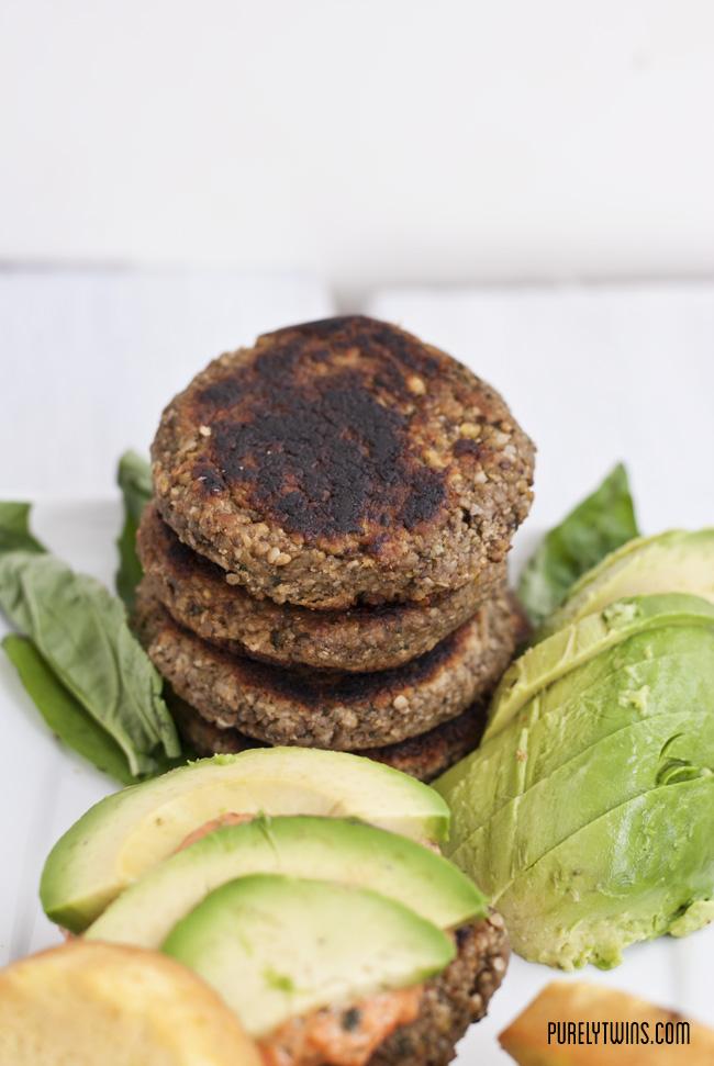 savory paleo vegan plantain burger