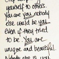 Stop comparing myself to others