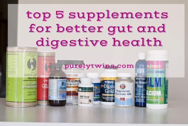 top 5 favorite supplements for better gut and digestive health with purelytwins